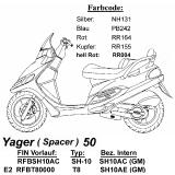 Spacer 50 BR8HSA f/ür Kymco Yager 50 Z/ündkerze